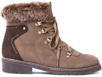 Blondo Faux Fur-Trimm Suede Ankle Boots