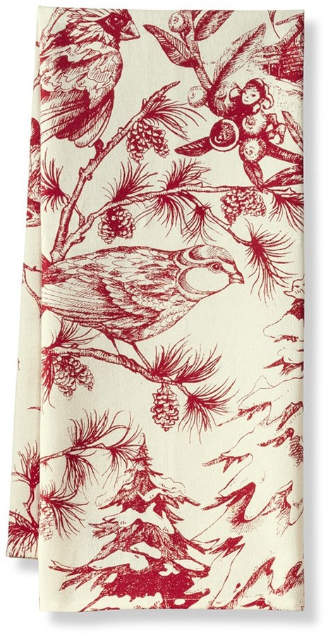Williams-Sonoma Holiday Toile Towels, Set of 2