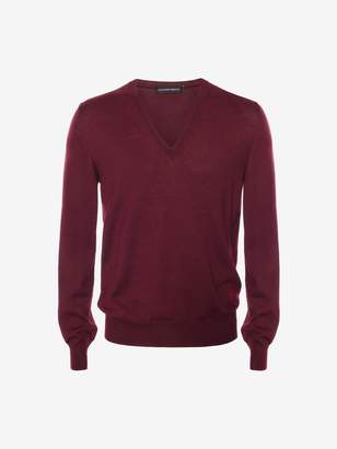 Alexander McQueen Sketch Signature V-Neck Jumper