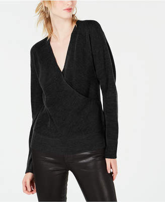 Bar III Surplice On or Off Shoulder Sweater
