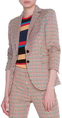 Akris Punto Houndstooth Jacquard Cotton Blazer