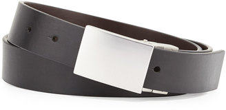 Robert Graham Holmes Reversible Faux-Leather Belt, Black/Brown $24 thestylecure.com