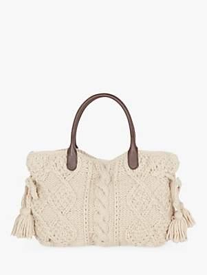 Gerard Darel Marylin Cable Knit Bag, Beige