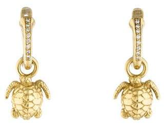 Kieselstein-Cord 18K Diamond Turtle Drop Earrings