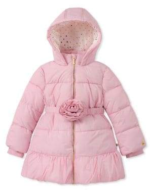 Kate Spade Little Girl's Quilted Rosette Puffer Coat