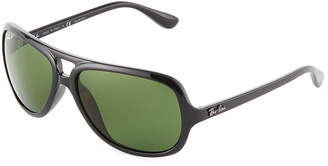Ray-Ban Polarized Plastic Aviator Sunglasses