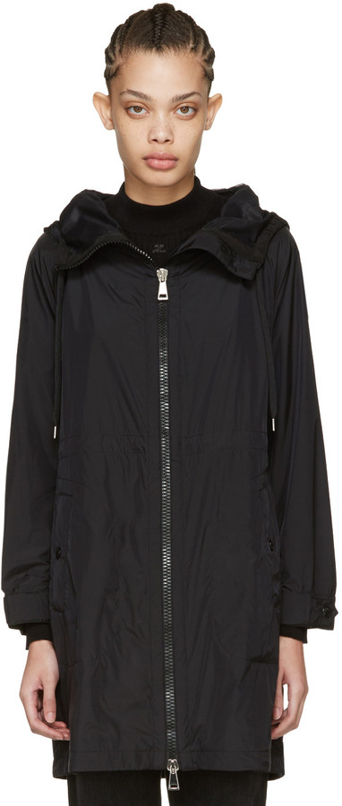 Moncler Moncler Black Ortie Hooded Coat