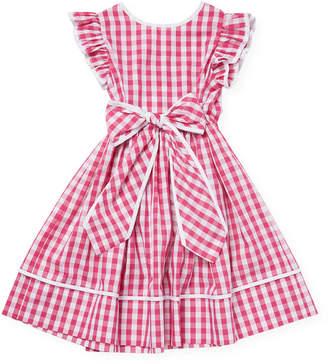 Il Gufo Gingham Flare Dress
