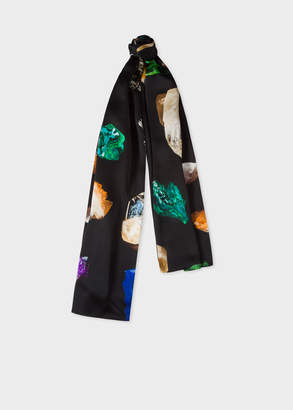 Paul Smith Women's Black 'Precious Stones' Print Silk Scarf