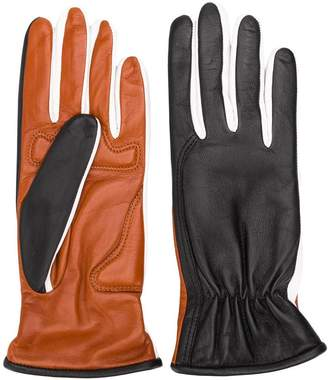 Sportmax two-faced leather gloves