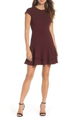 Eliza J Stretch Ruffle Crepe Sheath Dress