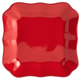 Pottery Barn Cambria Tidbit Plate, Set of 4 - Red