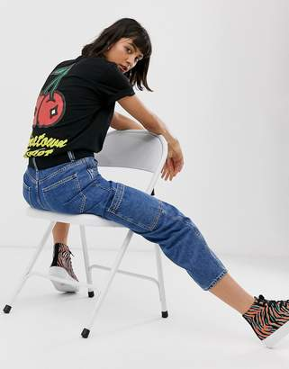 Chinatown Market boyfriend t-shirt with cherries logo graphic