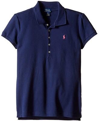 Polo Ralph Lauren Short Sleeve Mesh Polo Shirt (Little Kids/Big Kids)