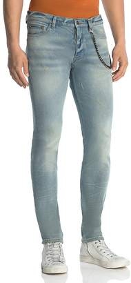 The Kooples Fitted Slim Fit Jeans in Blue $235 thestylecure.com