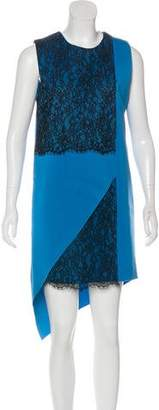 Robert Rodriguez Sleeveless Lace-Accented Dress