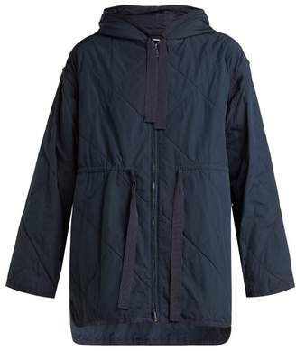Max Mara Boario Quilted Coat - Womens - Navy