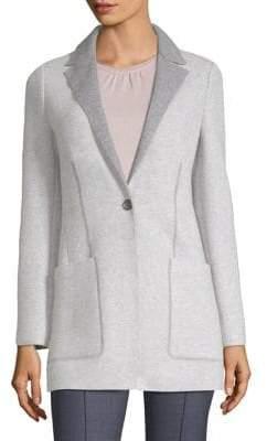 Agnona Cashmere Platino Jersey Cardigan Jacket