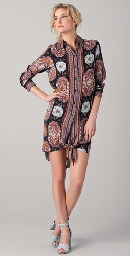 Kelly bergin Tie Shirtdress