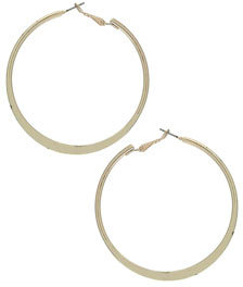 Topshop Freedom at metal. please note: we cannot refund this item unless faulty Gold knife edge hoop earrings, diameter 6cm