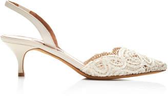 Tabitha Simmons Phebe Lace Slingback Sandals