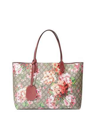Gucci GG Blooms Medium Reversible Leather Tote Bag, Multicolor/Rose