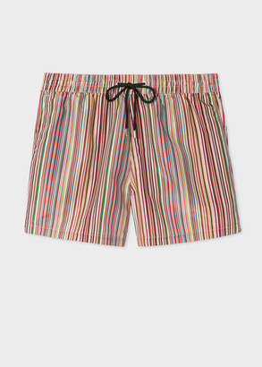 Paul Smith Men's 'Signature Stripe' Print Swim Shorts