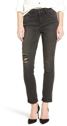 Women's Nydj 'Anabelle' Destructed Stretch Boyfriend Jeans $134 thestylecure.com