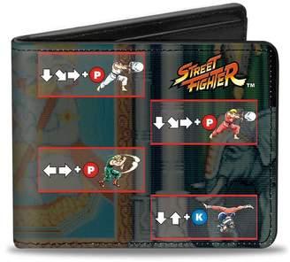 Möve Buckle Down Buckle-Down Men's Wallet Street Fighter Power Blocks Grays Accessory,