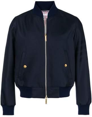 Thom Browne 4-Bar Sateen Stripe Blouson Jacket