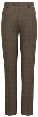 Banana Republic Slim Plaid Smart-Weight Performance Wool Blend Suit Pant