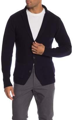 Knowledge Cotton Apparel Rib Knit Wool Cardigan