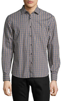 Black Brown 1826 Yarn-Dye Gingham Sport Shirt