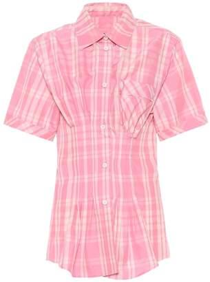 Isabel Marant Emily checked cotton-blend shirt