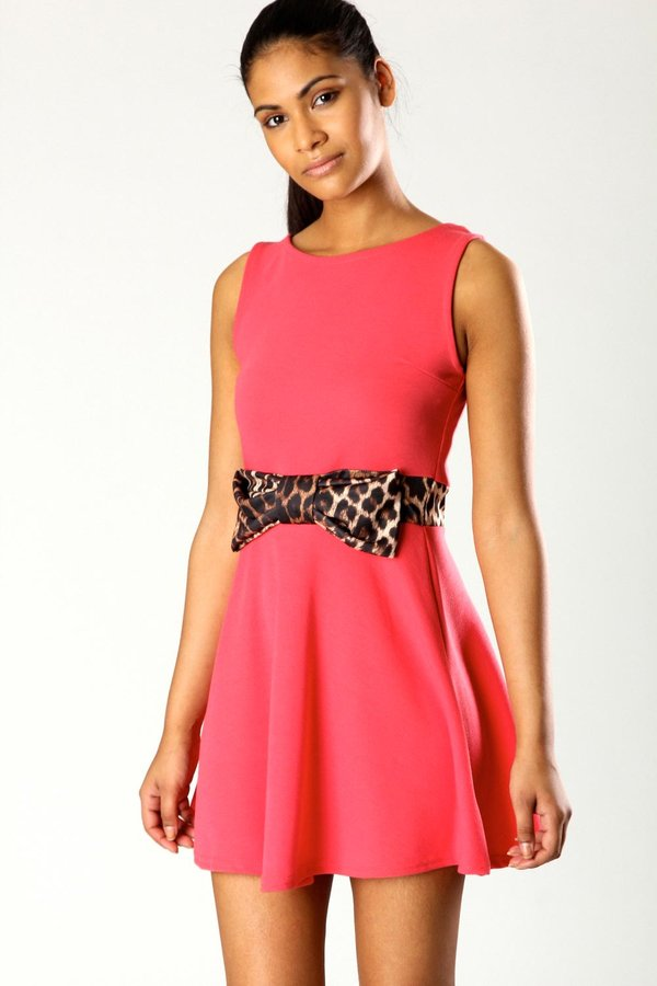 Jen Skater Dress with Bow