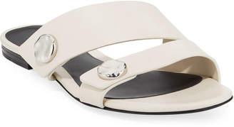 3.1 Phillip Lim Drum Flat Leather Slide Sandals