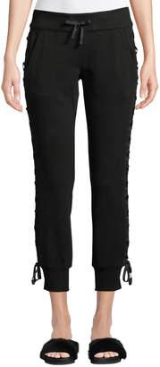 Blanc Noir Lace-Up Drawstring Jogger Pants
