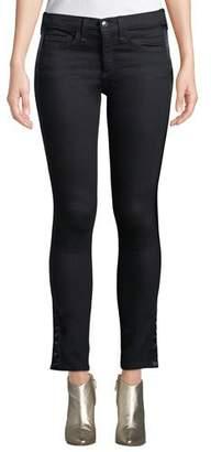 "Veronica Beard Brooke 8.5"" Rise Skinny Jeans w/ Tuxedo Stripes"