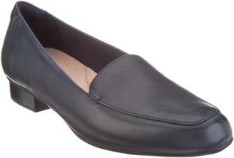 Clarks Leather Slip-On Loafers - Juliet Lora