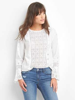 Bell-sleeve eyelet top $89.95 thestylecure.com