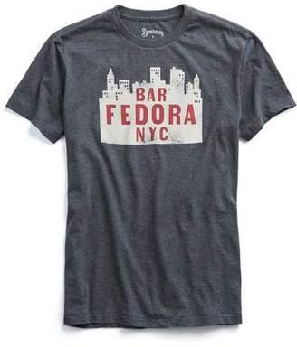 Todd Snyder Speakeasy Bar Fedora in Dark Charcoal Mix