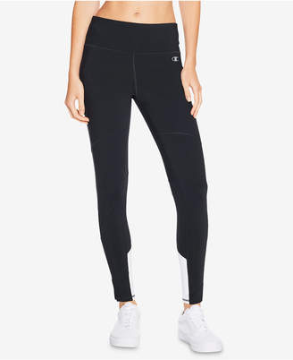Champion Double Dry Mesh-Inset Zip Ankle Leggings