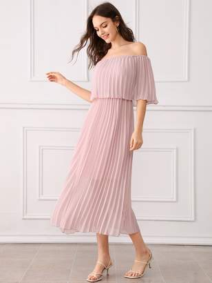 d9a4b323683 Shein Pink Ruffled Dresses - ShopStyle