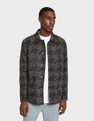 NATIVE YOUTH Lynx Jacket in Charcoal/Brown