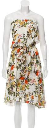 Haute Hippie Floral Silk Mini Dress
