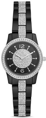 Michael Kors Petite Runway Embellished Black Watch, 28mm