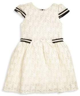 Girl's Lattice Lace Dress
