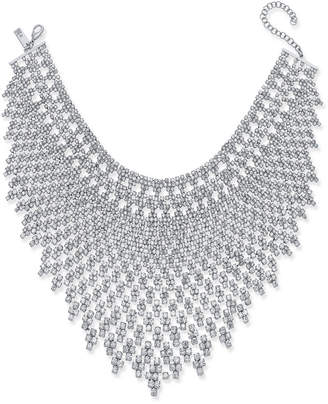 INC International Concepts I.n.c. Silver-Tone Draped Choker Statement Necklace, Created for Macy's
