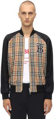 Burberry Logo Embroidered Tech Bomber Jacket