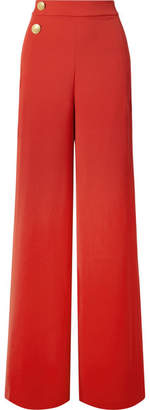 Alice + Olivia Florinda Crepe Wide-leg Pants - Red
